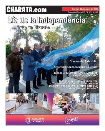 PORTADA DE CHARATA.COM - Martes 10 de Julio 2018