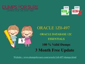 Oracle 1Z0-497 Dumps