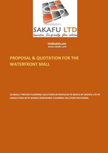 Proposal & Quotation- Waterfront Mall