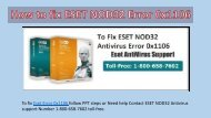 Steps to fix ESET Error 0x1106 Call 1-800-658-7602 Toll-free
