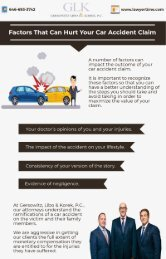 Factors that can hurt your car accident claim