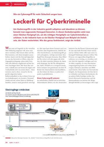 2017-11 CAV - Cyber Security - Honeypot Szenario