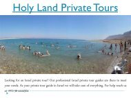 Holy Land Private Tours