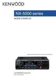 Kenwood 5700(B) - Communications French NX-5700,5700(B),5800,5800(B),5900,5900(B) USER MANUAL R2.5 (2018)