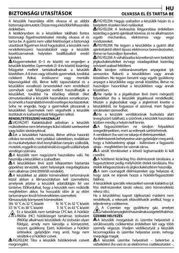 KitchenAid UC FZ 80 - UC FZ 80 HU (850785196000) Consignes de sécurité