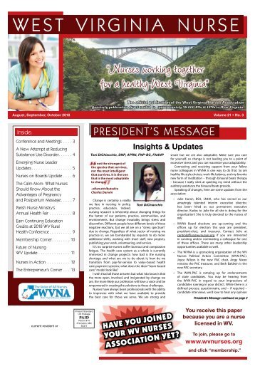 West Virginia Nurse - August 2018