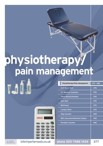physiotherapy/ pain management - Henry Schein