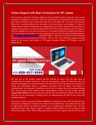 Online Support with Best Techniques for HP Laptop