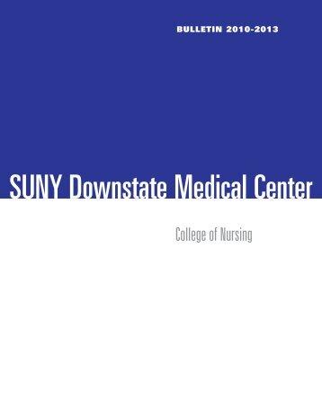 bulletin 2010-2013 - SUNY Downstate Medical Center