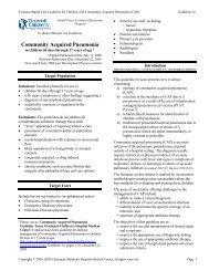 Community Acquired Pneumonia - Cincinnati Children's Hospital ...