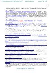 Schriftenverzeichnis von Prof. Dr. med H.-V. ULMER, Mainz (Teil III ...