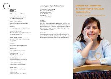 Einladung zum Jahrestreffen - Deutsche Ullrich-Turner-Syndrom ...