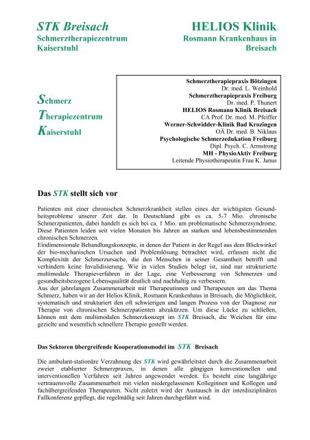 Schmerztherapiezentrum Kaiserstuhl - Schmerztherapie Praxisklinik ...