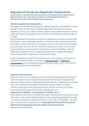Diagnostik und Therapie der idiopathischen Schulterarthritis