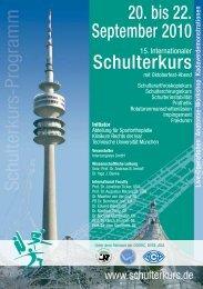 20. bis 22. September 2010 Schulterkurs - Abteilung und Poliklinik ...