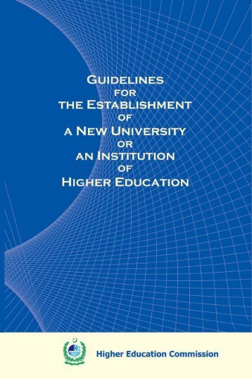 guidelines for the establishment of a new university or an institution ...