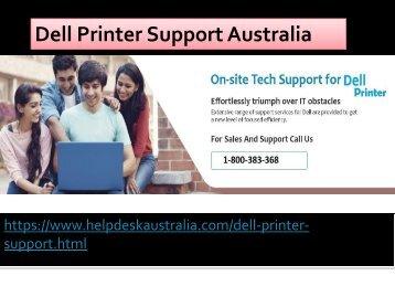 1-800-383-368 Network & Wi-fi Issue Resolve Dell Printer Support Australia