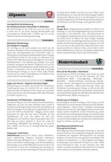 Gemeindespalten KW28 / 12.07.18