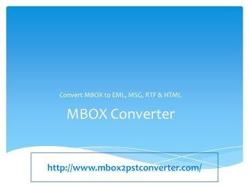 MBOX Converter