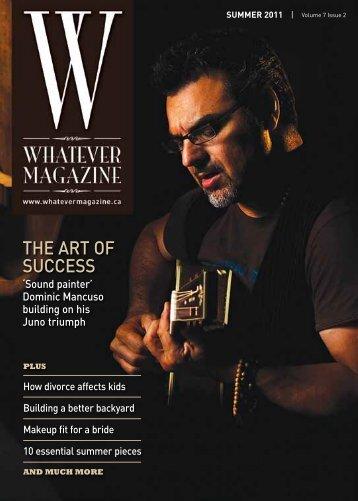 the art of success - Whatever Magazine