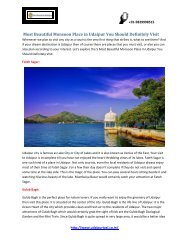 Most Beautiful Monsoon Place in Udaipur You Should Definitely Visit