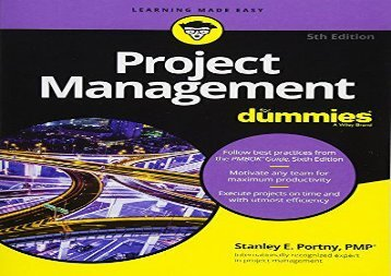 [+]The best book of the month Project Management For Dummies (For Dummies (Lifestyle))  [DOWNLOAD]
