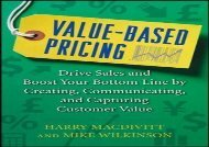 [+]The best book of the month Value-Based Pricing: Drive Sales and Boost Your Bottom Line by Creating, Communicating and Capturing Customer Value  [FREE]