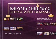 [+]The best book of the month Matching Supply with Demand: An Introduction to Operations Management  [FULL]