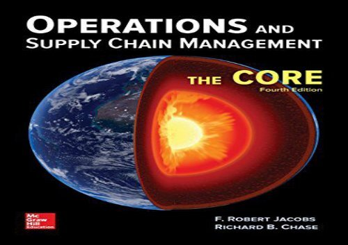 [+][PDF] TOP TREND Operations and Supply Chain Management: The Core  [READ]