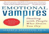[+]The best book of the month Emotional Vampires: Dealing with People Who Drain You Dry, Revised and Expanded 2nd Edition  [READ]