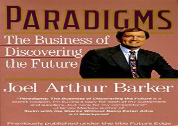 [+]The best book of the month Paradigms: The Business of Discovering the Future [PDF]