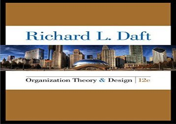 [+][PDF] TOP TREND Organization Theory and Design  [NEWS]