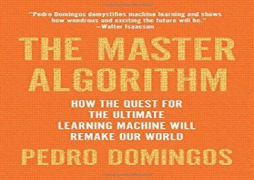 [+][PDF] TOP TREND The Master Algorithm  [NEWS]