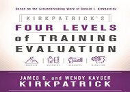 [+]The best book of the month Kirkpatrick s Four Levels of Training Evaluation  [FULL]
