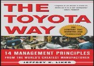 [+][PDF] TOP TREND The Toyota Way: 14 Management Principles from the World s Greatest Manufacturer  [DOWNLOAD]