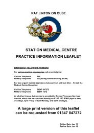 raf linton on ouse station medical centre practice ... - Royal Air Force