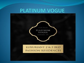 Platinum Vogue Andheri | 2 & 3 BHK Apartments