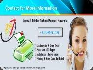 Lexmark technical support number Australia +61-1800-431-295