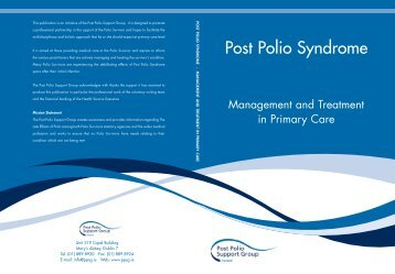 Post Polio Syndrome - Management & Treatment in Primary