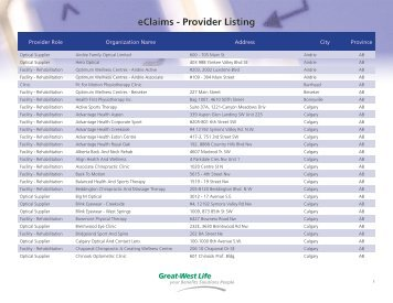 eClaims - Provider Listing - Oxford University Press Canada