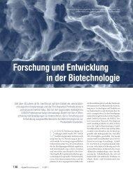 Forschung und Entwicklung in der Biotechnologie - Algoss