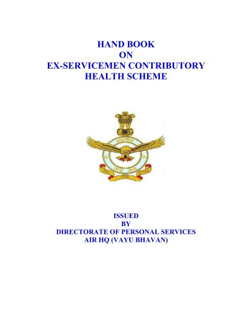 hand book on ex-servicemen contributory health     - Indian