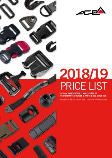 Ace Supplies 2018/19 Price List