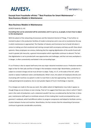 2017-08 New Business Models in Maintenance