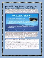 Contact HP Phone Number +1(888) 963-7228 For get instant HP(Hewlett-Packard) Help.output
