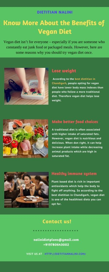 Know More About the Benefits of Vegan Diet