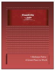 Akshaya Patra - a Great Place to Work