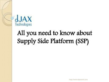 all you need to know about supply side platform