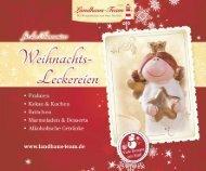Landhaus-Team: Weihnachts - Leckereien